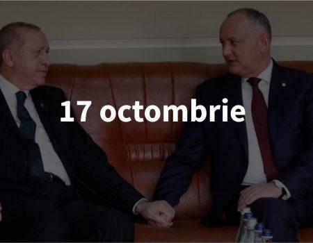Scurt pe doi, 17 octombrie: Vizita lui Erdogan – cu râs și plâns, mandatul lui Năstase și noul local RUF