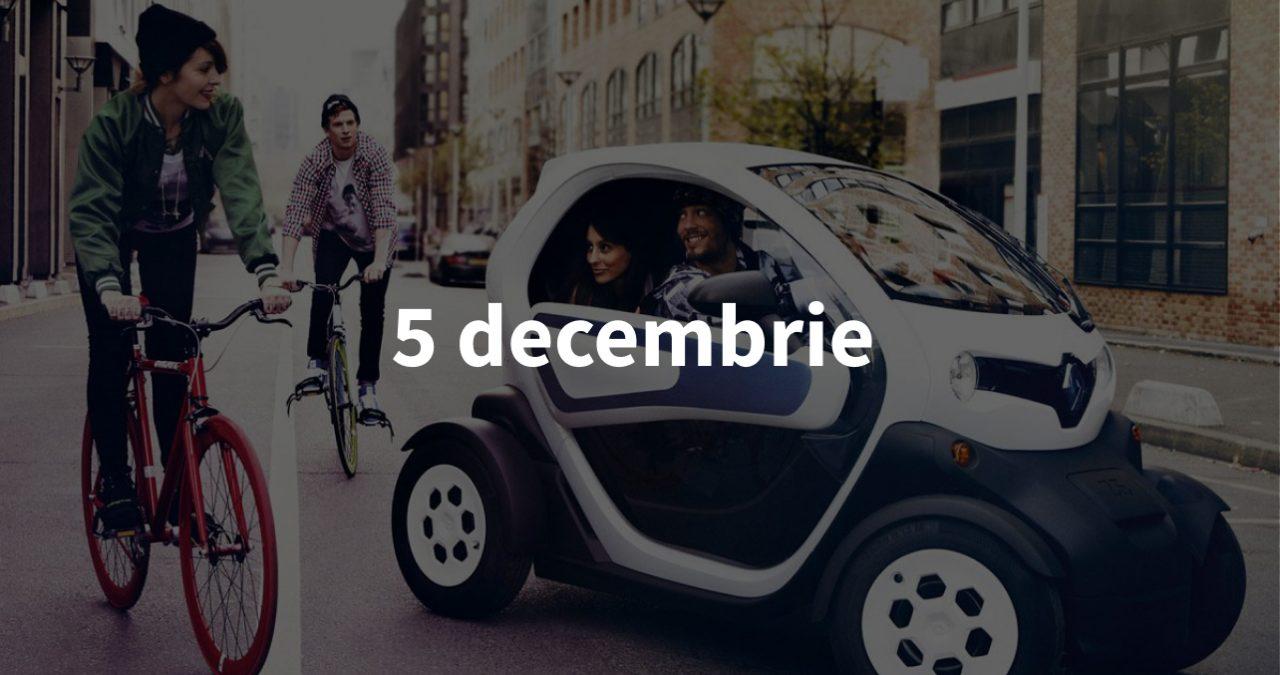 Scurt pe doi, 5 decembrie: Renault Twizy la Chișinău, cei mai plătiți artiști din 2018 și premiul pentru Ion Sula